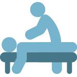 icona massoterapia e fisioterapia sportiva